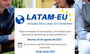Celebración de la quinta jornada del ciclo LATAM-EU Generation con motivo del Día Mundial de la Juventud